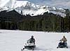 Snowmobiling in the Wyoming Range